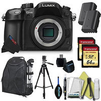 Panasonic LUMIX DMC-GH4 16.05MP Digital 4K Mirrorless Camera (Body) + Pixi-Dual Bundle