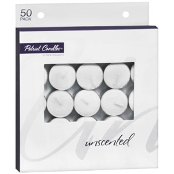 Patriot Candles Tealights, Unscented, 50 ea