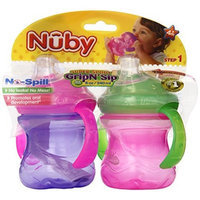 Nuby 2-Pack 8 oz No Spill Cup with Super Spout (Color may vary)
