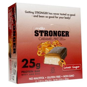 NuGo Stronger Protein Bars, Caramel Pretzel, 12 ea