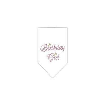 Ahi Birthday Girl Rhinestone Bandana White Large