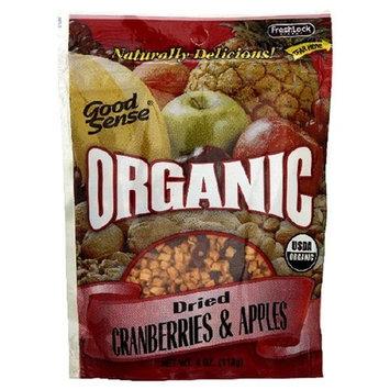 Good Sense Organic Dried Cranberries & Apples, 4-Ounce Bag (Pack of 6)