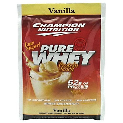 Champion Nutrition Pure Whey Protein Stack, Vanilla 60 - 2.2 oz (64 g) packs