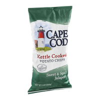 Cape Cod Kettle Cooked Potato Chips Sweet & Spicy Jalapeno