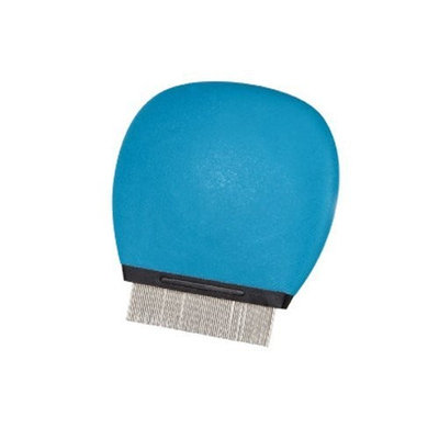 Master Grooming Tools 3-Inch Soft Grip Flea Pet Comb, Small