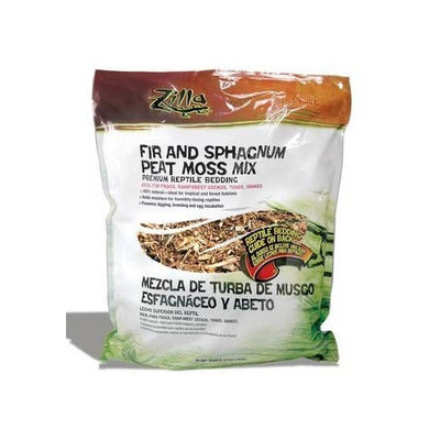 Zilla 11865 Fir and Shagnum Peat Moss Jungle Mix, 25-Quart Bag