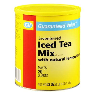 Guaranteed Value Sweetened Iced Tea with Natural Lemon Flavor Mix