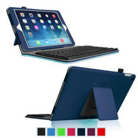 Fintie Ultra Thin Folio Key Removable Bluetooth Keyboard Case Cover for iPad Air 5 (5th Generation), Navy