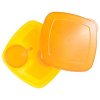 Compac Industries Compac Take A Dip 2the Side Container, Orange/Yellow, 2 Ounce