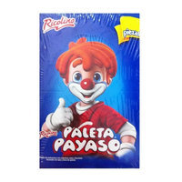 Ricolino Marshmallow Lollipop with Chocolate and Gummies - Paleta Payaso (10 Pieces)