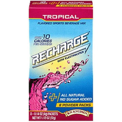 R.W. Knudsen Recharge Sticks - Tropical, .14-Ounce Packets, (Pack of 32)