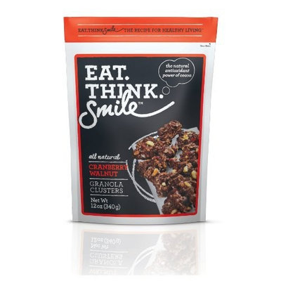 Apure Foods Eat. Think. Smile. Granola Clusters, Cranberry Walnut, 12-Ounce Pouches (Pack of 4)