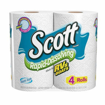 Scott Rapid Dissolve Bath Tissue, 4 ea