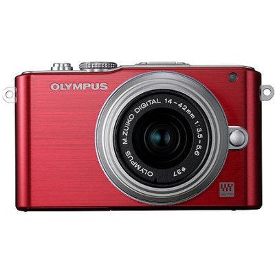 Olympus E-PL3 Red PEN Camera w/14-42mm Lens