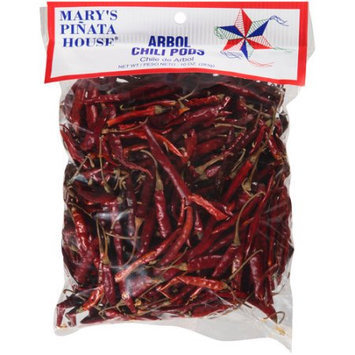 Bolner's Fiesta Products Mary's Pinata House Arbol Chili Pods, 10 oz