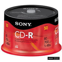 Sony CD-R Spindle Disc Pack - 50-pk