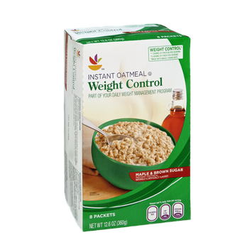 Ahold Weight Control Maple & Brown Sugar Flavored Instant Oatmeal - 8 CT