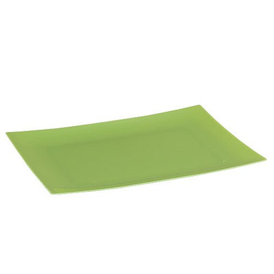 King Zak Ind Lillian Tablesettings 36190 Dinnerware 9 in. Pistachio Rectangular Plate - 120 Per Case