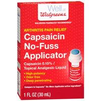 Walgreens Capsaicin No-Fuss Applicator, 1 oz