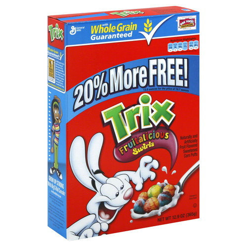 Trix Cereal, Corn Puffs, Fruitalicious Swirls, 12.9 oz (365 g)