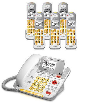 Uniden D3098-6 DECT 6.0 Amplified Corded/Cordless Phone w/ 5 Extra Han