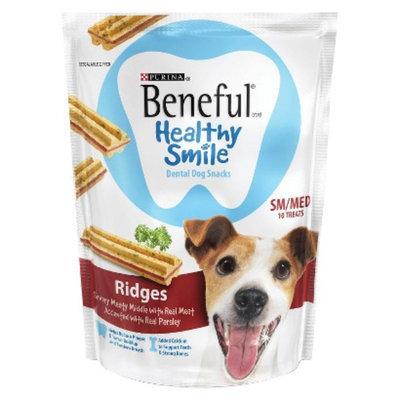 Purina Beneful Beneful Healthy Smile Ridges Dental Dog Treats Sm/Med - 10 pk