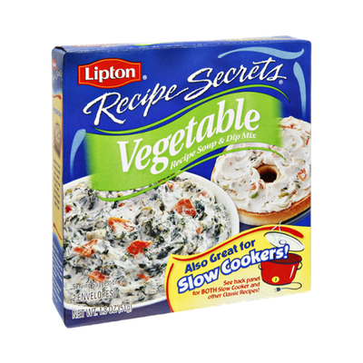 Lipton® Recipe Secrets Vegetable Recipe Soup & Dip Mix