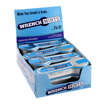 Wrench Mints Sugar-Free Peppermint Flavor Box