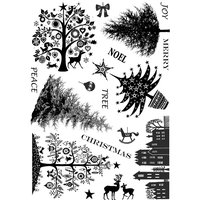 Cam Consumer Products, Inc. Crafty Individuals Unmounted Rubber Stamp Mini Christmas Trees