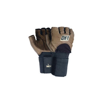 OK 1 Half Finger Impact Glove w/Wrist Support Large Size (GLV1028L) Category: Chore Gloves