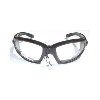 Quail Motorcycle Padded Glasses Clear Night Riding Anti Fog Uv400 Has comfortable vented EVA foam padding on the entire inside of the glasses to fit snug to your face and protect against wind and dust while still allowing your eyes to breathe.