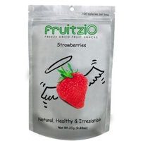 Fruitzi'o FruitziO Freeze Dried Fruit Snacks, Strawberries, 0.88-Ounce Pouches (Pack of 6)