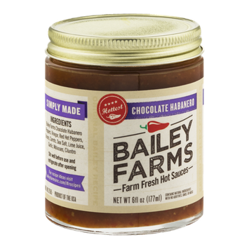 Bailey Farms Farm Fresh Hot Sauces Chocolate Habanero