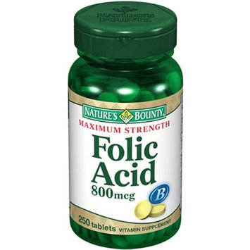 Nature's Bounty Natural Folic Acid 800 mcg Dietary Supplement