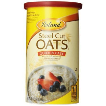 Roland Quick and Easy Steel Cut Oats, 24-Ounce Canisters (Pack of 4)