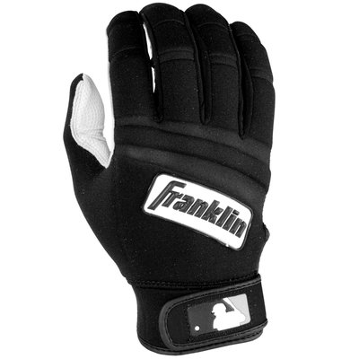 Franklin Sports MLB Youth Cold Weather Batting Glove Pearl/Black Large