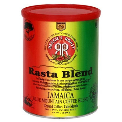 Reggies Roast Reggie's Roast Jamaica Blue Mountain Rasta Blend Ground Coffee, 12-Ounce Cans (Pack of 2)