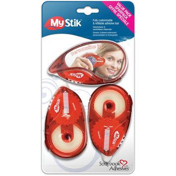 3l Corp 3L 1631 Mystick Permanent Adhesive Value Pack-1 Dispenser 2 Refills
