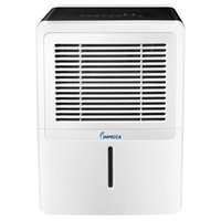 Impecca IDM52SP 50 Pint Portable Dehumidifier with Energy Star Electronic Controls Whisper Quiet Operation 2 Fan Speeds Large Bucket with Handle Built-in Drain
