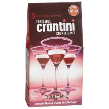Cobblestone Kitchens Freezable Crantini Cocktail Mix with Rim Trim, 11.6-Ounce Boxes (Pack of 4)