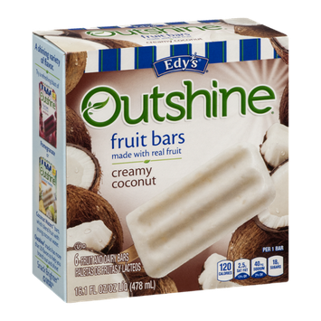 Edy's Outshine Fruit Bars Creamy Coconut - 6 CT