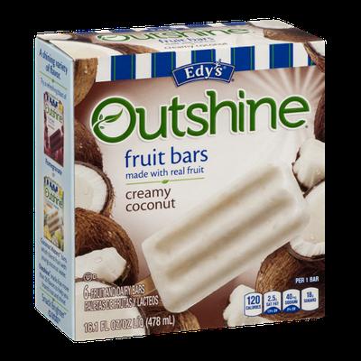 Edy's Outshine Fruit Bars Creamy Coconut - 6 CT