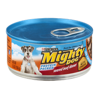 Purina Mighty Dog Seared Beef Dinner in Gravy With Cheese