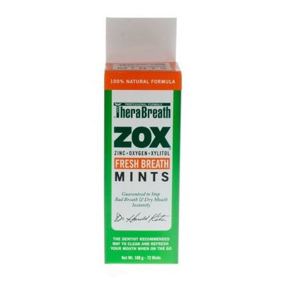 TheraBreath ZOX Breath Mints, 72-Mint (Pack of 3)