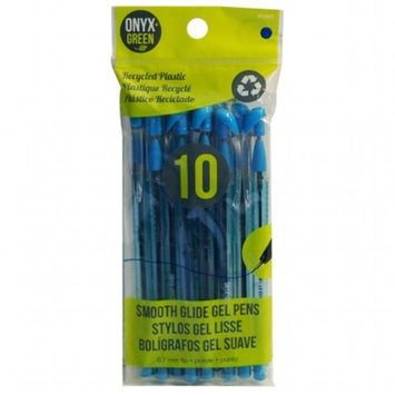 Frontier Natural Foods Frontier Natural Products 227816 Gel Pens Recycled Plastic 10 pack blue ink