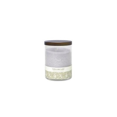 Lavender & Vanilla Essential Blend By Lavender & Vanilla Essential Blend One 4.5 Inch Glass Pillar Essential Blends Candle. Burns Approx. 70 Hrs.