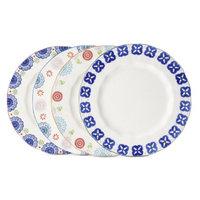 Boho Boutique Floral Ceramic Dinner Plate Set of 4