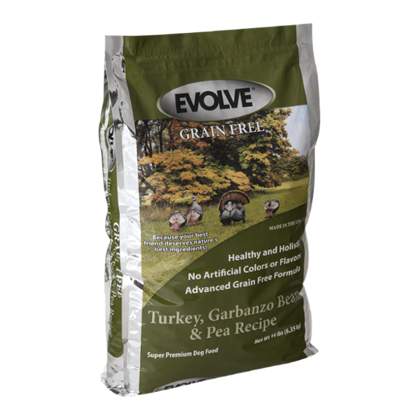 Evolve Grain Free Super Premium Dog Food Turkey, Garbanzo Bean, & Pea Recipe