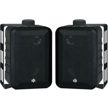 BIC America Indoor/Outdoor 3-Way Speakers (Black)