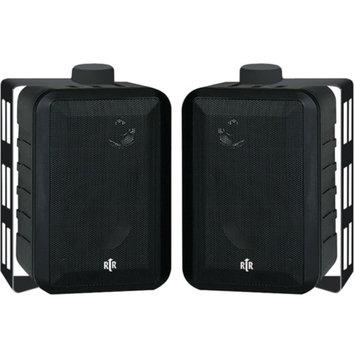BIC America Indoor/Outdoor 3-Way Speakers (Black)